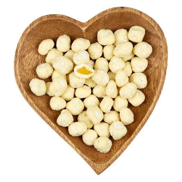 Ananasstücke in weißer Schokolade 'Pina Colada'